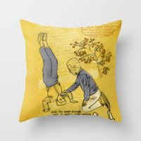 hiccup Throw Pillows featuring Modesto! Hiccup by MODESTo! Prints