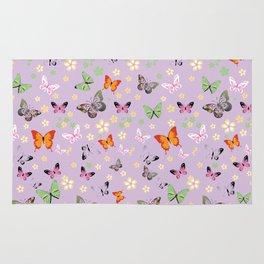 New Watercolour Butterflies XXII (colorful butterflies) Rug