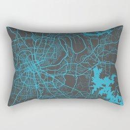 Nashville map blue Rectangular Pillow