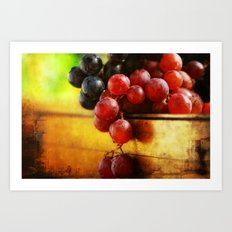 Autumn Grapes Art Print