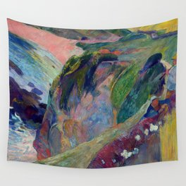 "Paul Gauguin ""The Flageolet Player on the Cliff (Le jouer de flageolet)"" Wall Tapestry"