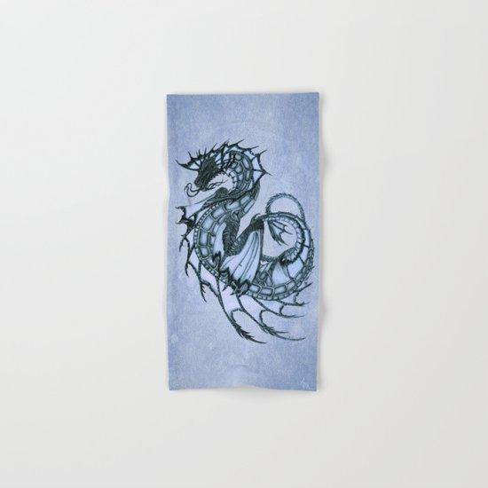 Tsunami Sea Dragon ~ Ice Blue Hand & Bath Towel