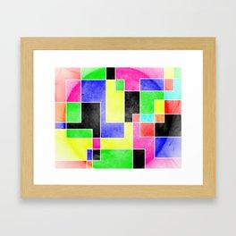 Colour Pieces Framed Art Print