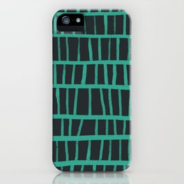 green pattern iPhone Case