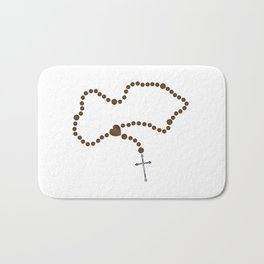 The Rosary Beads Bath Mat