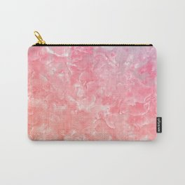 Rose & Gold Mother of Pearl Texture Carry-All Pouch