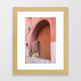Embedded Roman Wall, Right side Framed Art Print