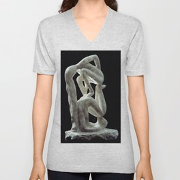 Amnon and Tamar by Shimon Drory Unisex V-Neck