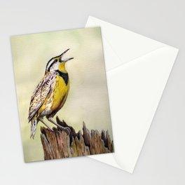 Western Meadowlark Watercolor Print Stationery Cards