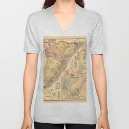 Map Of Cape May 1872 Unisex V-Neck
