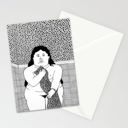 Botero - Woman in bath Stationery Cards