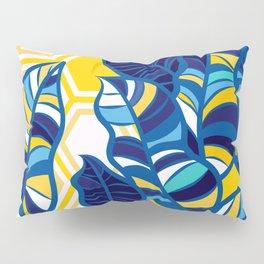 Geo Pop Foliage on Yellow & White Pillow Sham