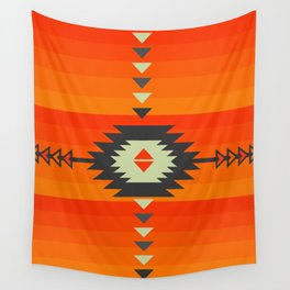 Southwestern in orange and red Wall Tapestry