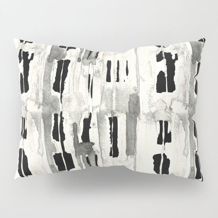 Minimal Black and Cream Abstract Design Pillow Sham
