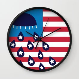 Red White and Blues Wall Clock