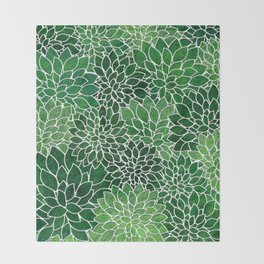 Floral Abstract 23 Throw Blanket