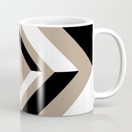 Pantone Hazelnut Black and White Geometric Shapes, Diamond Minimal Illustration Coffee Mug