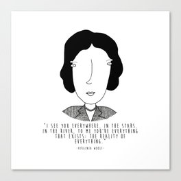 Literary Love: Virginia Woolf Canvas Print
