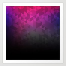Abstract violett pattern Art Print