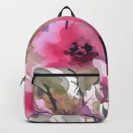 Red Water Blooms Backpack