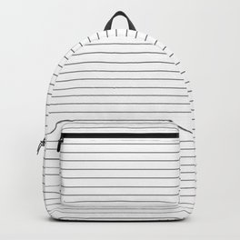 Simple Black and White Stripes Backpack