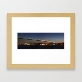 bosphorus bridge Framed Art Print
