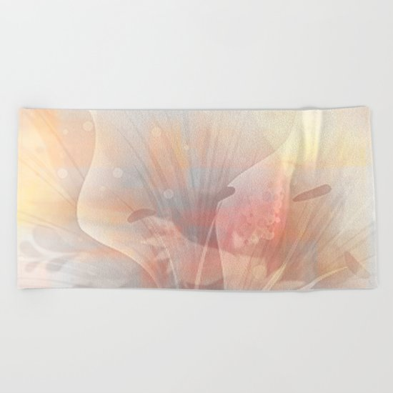 Floral Astract Beach Towel
