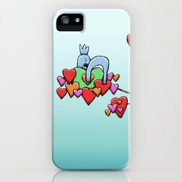 Cute Koala Sleeping on Heart Leaves iPhone Case