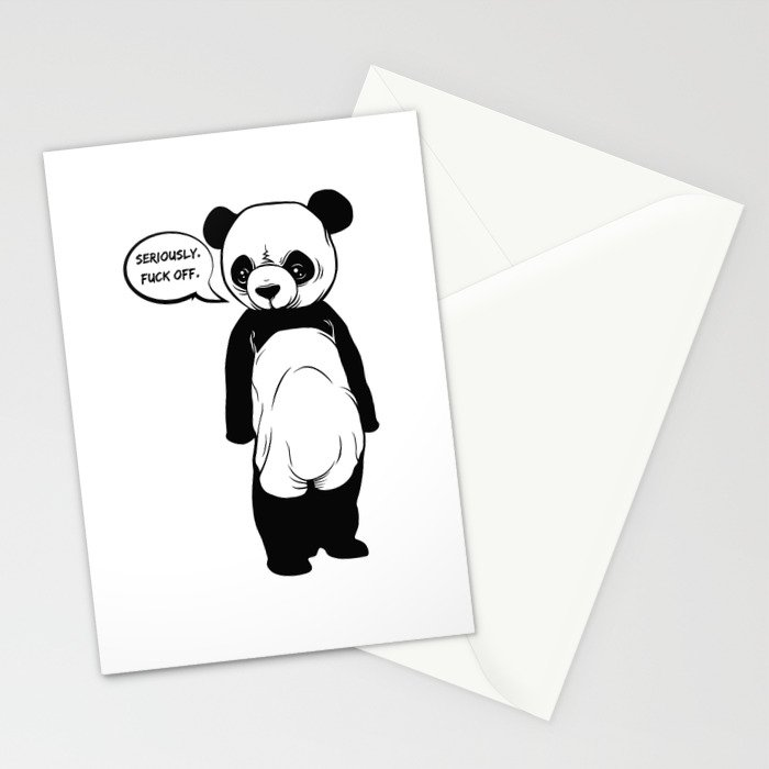 Angry Panda Stationery Cards