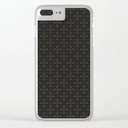 Dark Trellis Clear iPhone Case