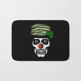 Irish Clown Skeleton Bath Mat