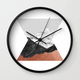 Copper Geometric IV Wall Clock