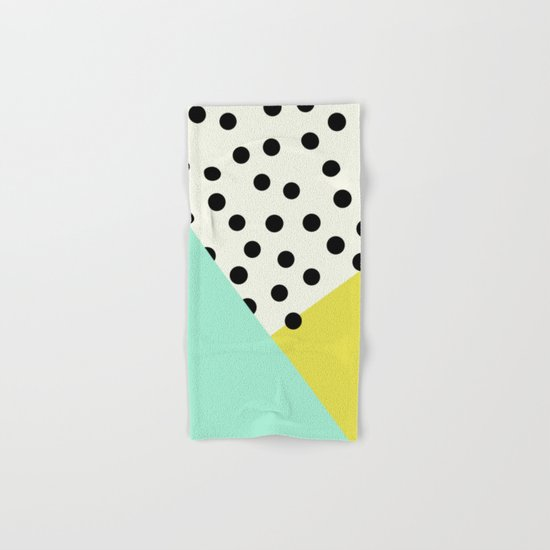 Mod dots and angles  Hand & Bath Towel