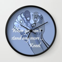 When You Can't Stand Any More ...  Kneel Wall Clock