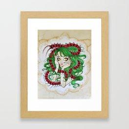 Centipede Maiden Framed Art Print