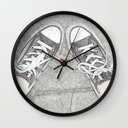 Sneaking Up On Love Wall Clock