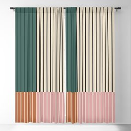 Color Block Lines V Blackout Curtain