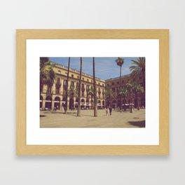 Plaça Reial Framed Art Print
