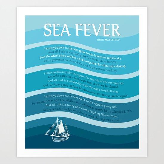 Sea Fever Art Print