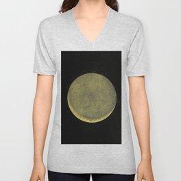 Antique Crescent Moon Unisex V-Neck