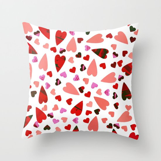 Scatter my (LOVE) Heart Throw Pillow