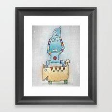 Dancing on Fat Cat Framed Art Print