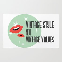 Vintage Style not Values midcentury retro pin up Rug