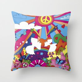Woodstock- Peace Throw Pillow