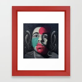 Colour Pressure autorretrato Framed Art Print