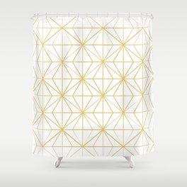 Geometric Golden Pattern Shower Curtain