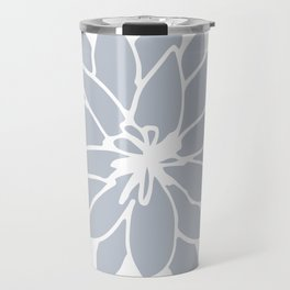 Flower Bluebell Blue on White Travel Mug