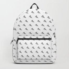birds patterns white Backpack