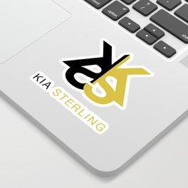 Kia Sterling Black/Gold Sticker