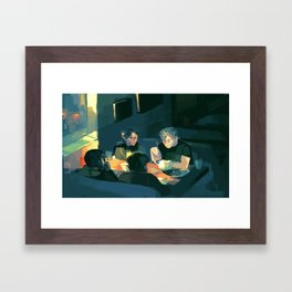 Jude, Willem, Malcolm and JB Framed Art Print